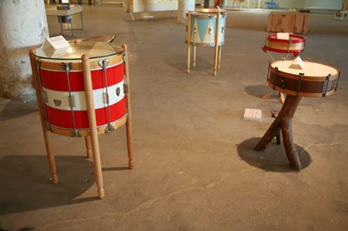 Vintage Drum Tables