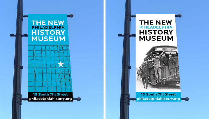 Philadelphia History Museum Street Banners