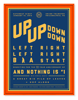 up up down down left right left right b a start anniversary poster